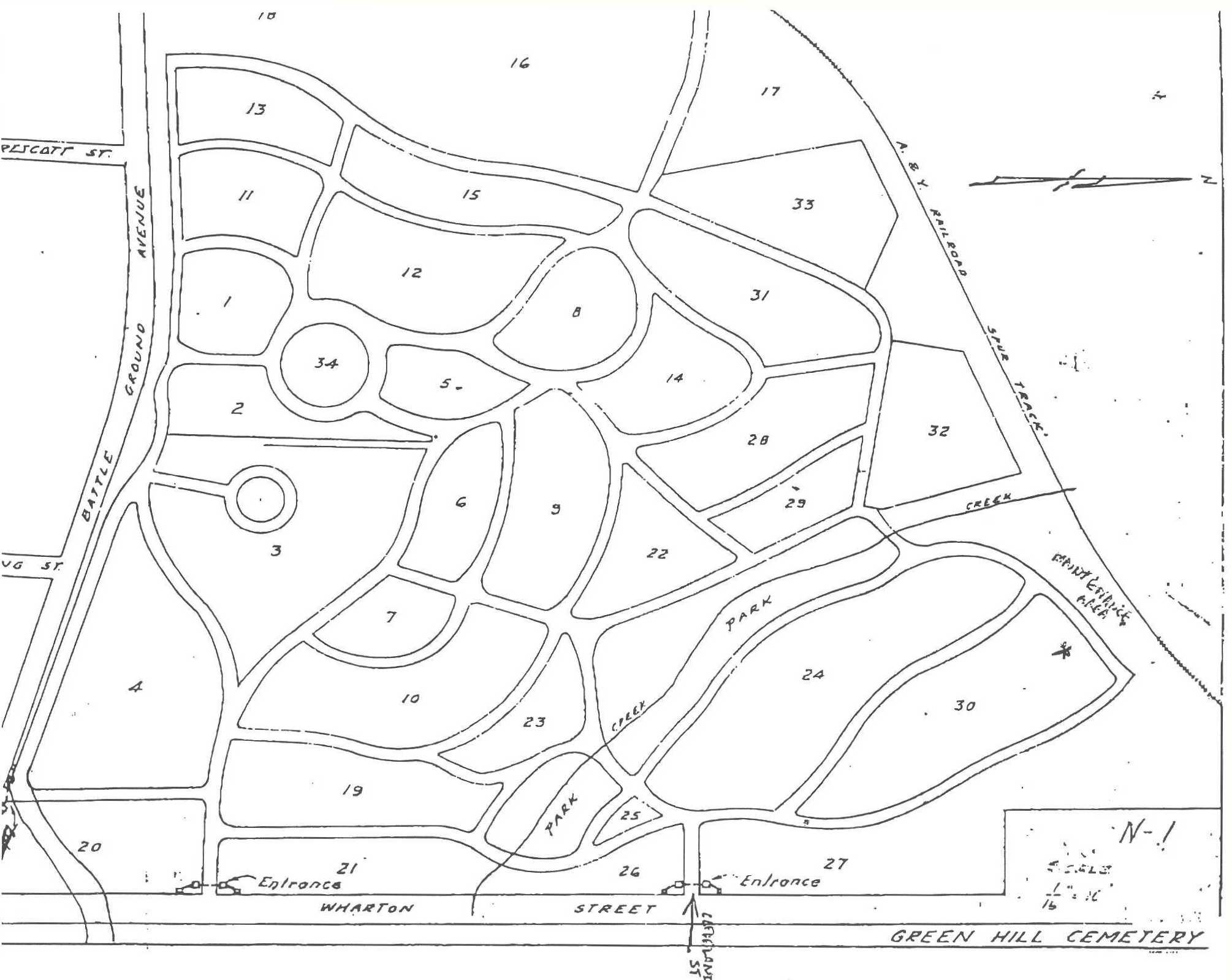 Green Hill Cemetery Map