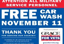 Grace For Vets Free Car wash