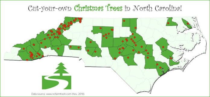 cut your own xmas tree in nc