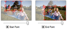 Çarpıcı fotoğraf geçiş efektleri içerir