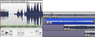 VideoPad, el creador de películas y editor de mpeg le permite mezclar una banda sonora para su película