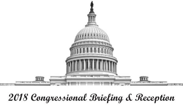 Logo: 2018 Congressional Briefing and Reception. Graphic features the US Capitol Building