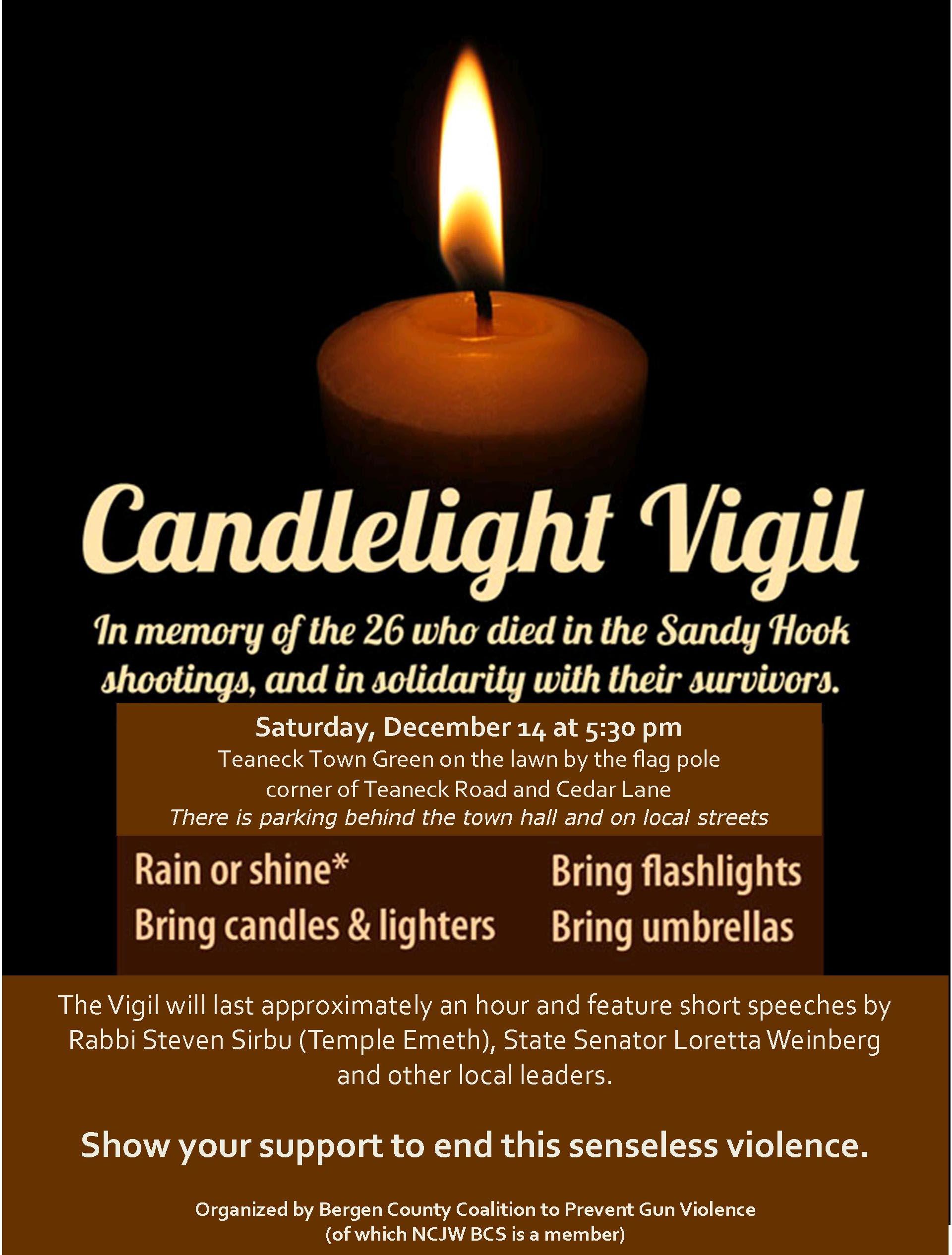 Candlelight Vigil NCJWBCS