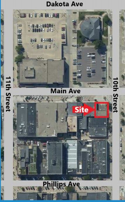 aerial view 200 s main ave sioux falls sd for lease