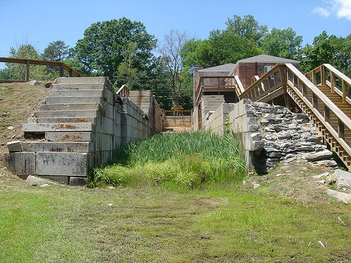Remains of the Roanoke Canal Locks in Roanoke Rapids NC.