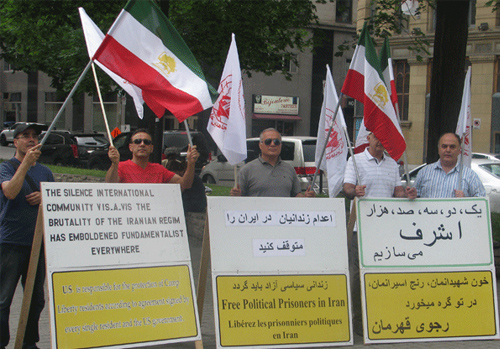 Supporters of the PMOI in The montreal