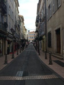 Other side of my street in Antibes
