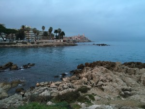 Rocky beaches in Antibes