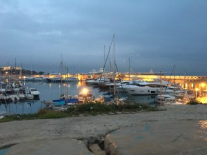 Port Vauban at dusk
