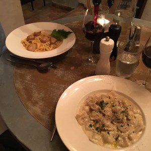 Fantastic dinner at Le Jardin - can't wait to go back when it's warmer and enjoy the expansive back patio. Truffle ravioli for the win!