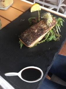 Fresh fish at o'key beach restaurant in Cannes