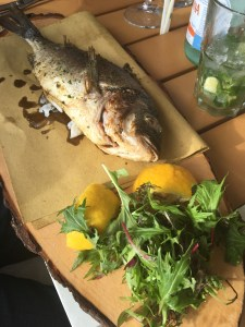 Catch of the day at o'key restaurant in Cannes
