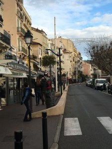 Walk back from the beach to the train station in Cannes
