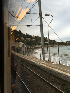 Great view on the train from Antibes to Monaco