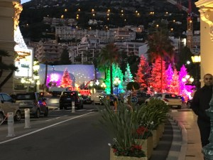 Holiday lighting in Monaco