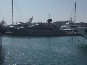 """Midnight Sun"" yacht in Port Vauban"