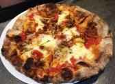 Sausage-honey pizza at Tazza Kitchen