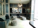 Fuzzy lounge area at CO in Raleigh