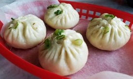 Pan-ried dumplings at Peking Duck and Noodle