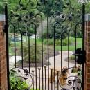 Sower's courtyard gate