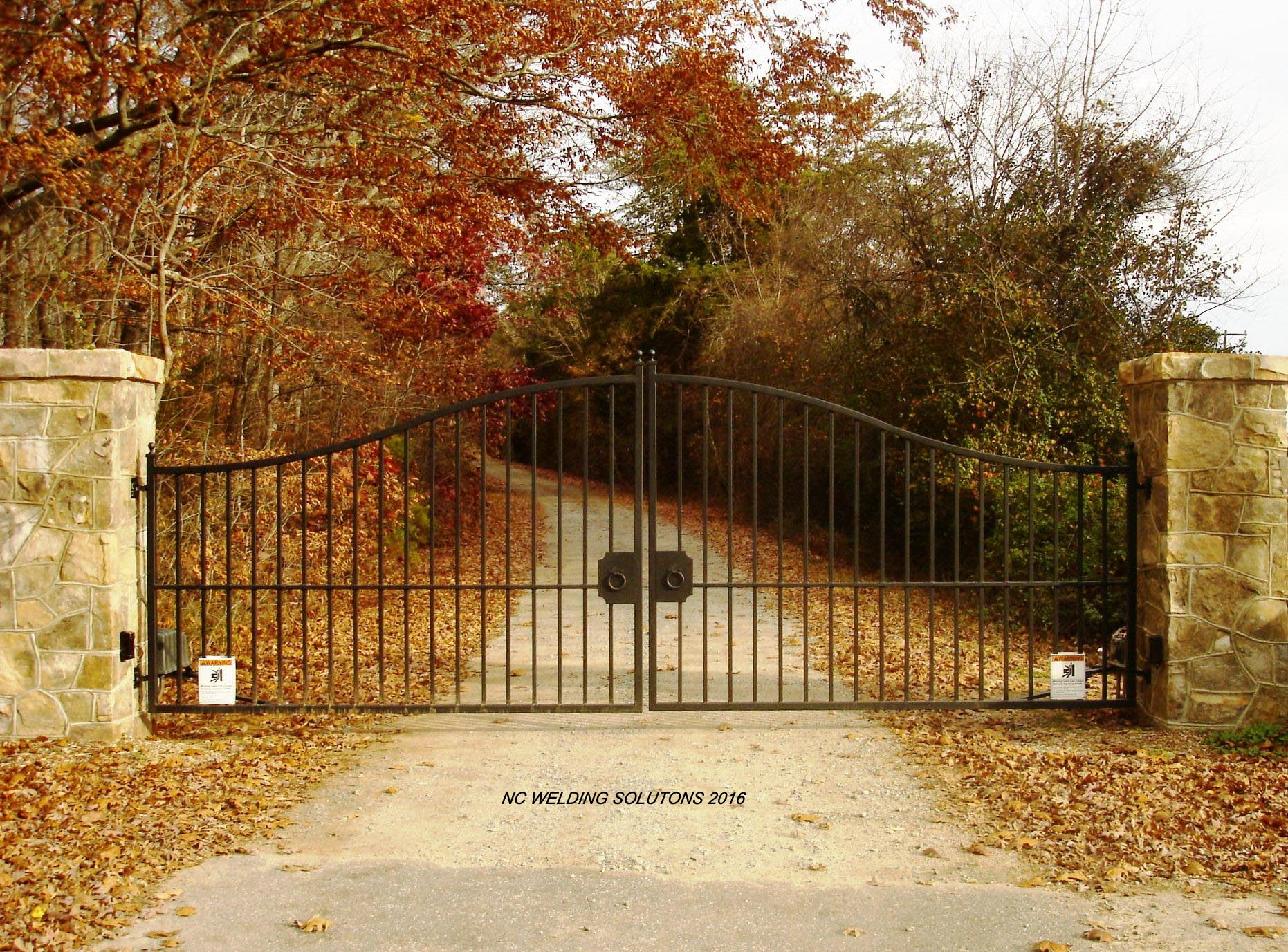 Custom Wrought Iron Driveway Gates Gate Automation