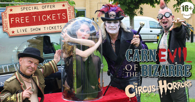 CIRCUS OF HORRORS FREE TICKETS