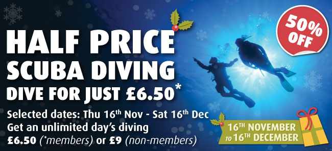 Half Price Scuba Diving Until Christmas