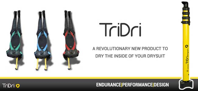 Tri Dri A revolutionary new product to dry the inside of your drysuit