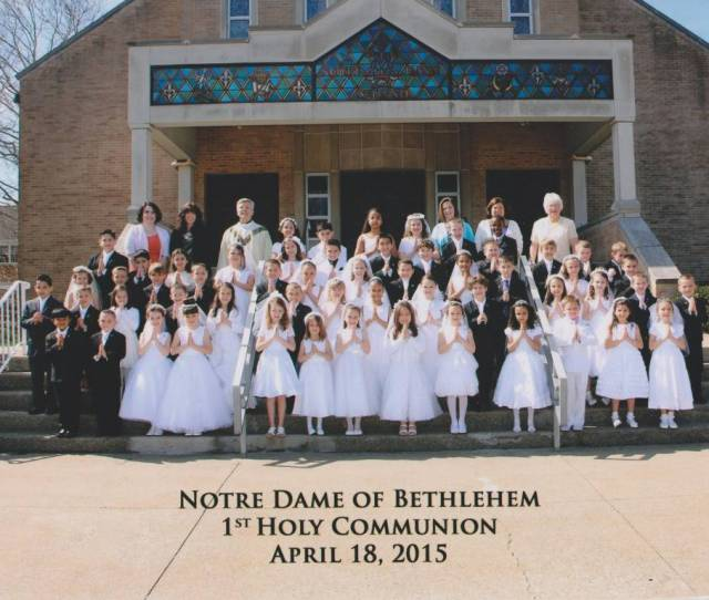 First Holy Communion Is Received In The Spring Each Year At Notre Dame Our School And Prep Children Receive Their First Communion In 2nd Grade