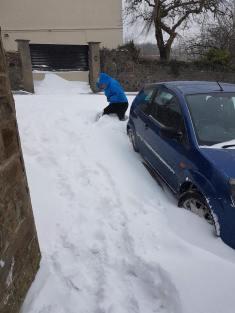 Carer in Snow