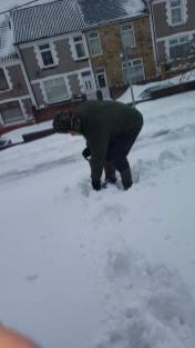 Carer in snow 2