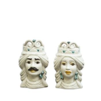 Vaso a Testa di Moro in ceramica di Caltagirone
