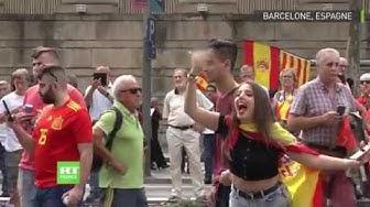 Barcelone : marche de la droite nationale contre l'indépendance de la Catalogne
