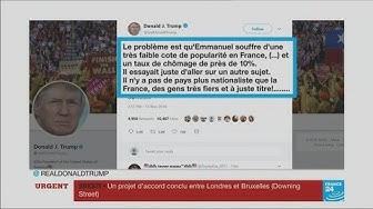 Trump dézingue Macron et sa faible cote de popularité