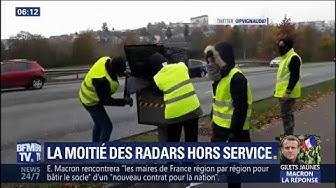 Gilets jaunes : la moitié des radars hors service depuis le début du mouvement (VIDÉO)