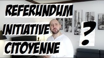 Réflexions sur le référendum d'initiative citoyenne (RIC)