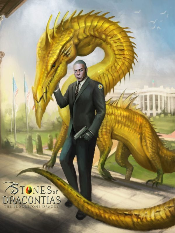 African American Fantasy Dragon Concept Art by ND Jones