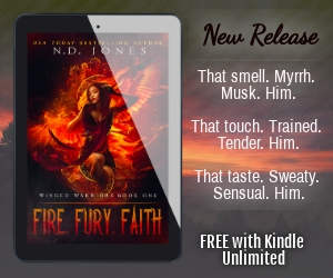 Fire Fury Faith Black Paranormal Romance by ND Jones