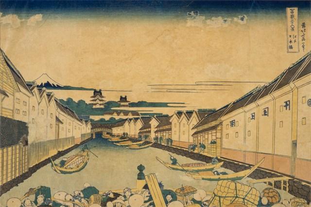 Ukiyo-e of Nihonbashi area