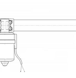 Attuatore lineare con sblocco meccanico dello stelo
