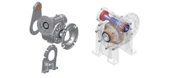 Worm gearboxes i series