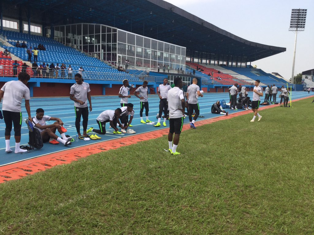 Check out Super Eagles Training In Asaba Ahead Of South Africa Clash (Photos)⚽ 1