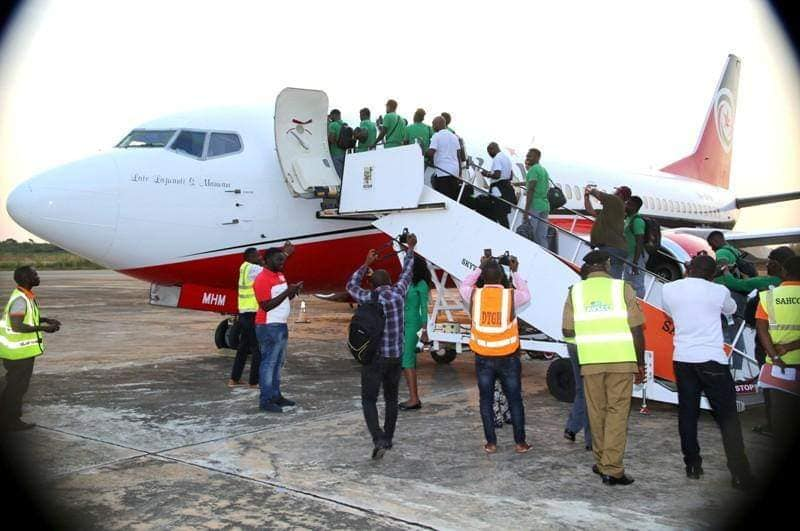 Super Eagles Players Depart For South Africa Ahead Of Crunch AFCON Match (Photos) 1