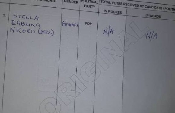 PDP Candidate for 'Ikom II State Constituency' Declared Winner in Cross River Bye-Election