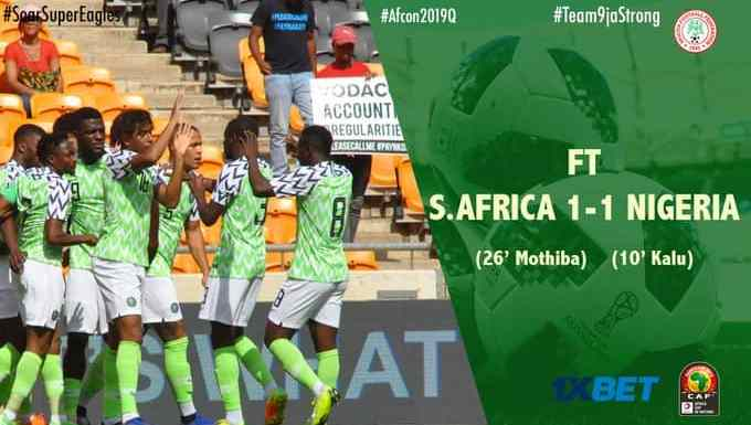 Super Eagles Sing & Celebrate As They Qualify For #2019AFCON