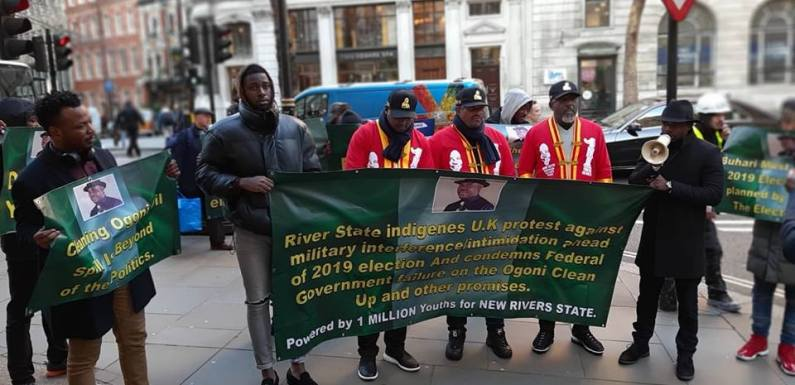Rivers State Indigenes Protest Against Buhari In London (Photos)