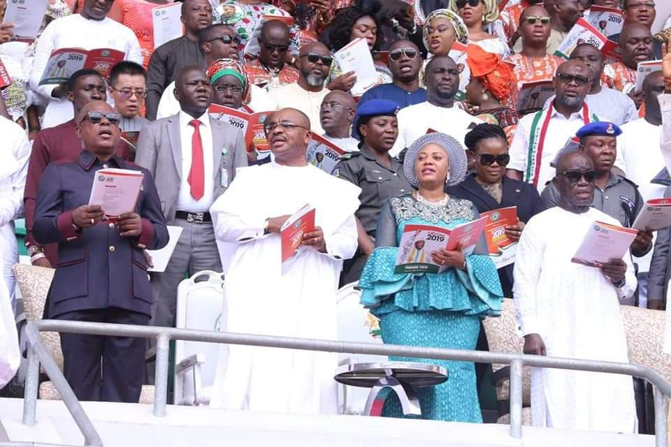 Oyedepo, Enenche, Nathaniel Bassey At PDP Victory Thanksgiving Service In Uyo