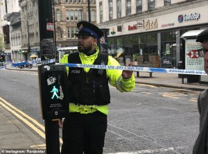 Manchester City on lockdown over bomb scare