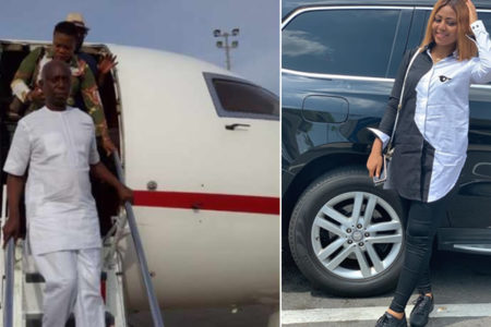 Ned Nwoko and his team arrive Asaba in 3 Private Jets ahead of Regina Daniels' Carnival (photos)