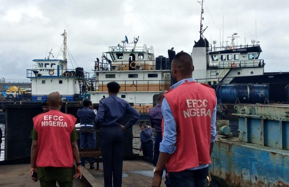 Navy arrest vessels transporting two million litres of stolen diesel, seven crew members